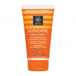 APIVITA SUNCARE FACE & BODY SUN PROTECTION MILK SPF30 ΜΕ ΘΑΛΑΣΣΙΑ ΛΕΒΑΝΤΑ & ΠΡΟΠΟΛΗ 150ml