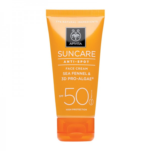 APIVITA SUNCARE FACE CREAM ANTI-SPOT SPF50 ΜΕ ΚΡΙΤΑΜΟ & 3D PRO-ALGAE® 50ml