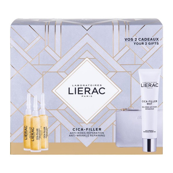 ΠΑΚΕΤΟ ΠΡΟΣΦΟΡΑΣ LIERAC PROMO PACK CICA FILLER SERUM ANTI-RIDES SERUM 30ml + ΔΩΡΟ CICA-FILLER MAT ANTI-WRINKLE GEL-CREAM 40ml