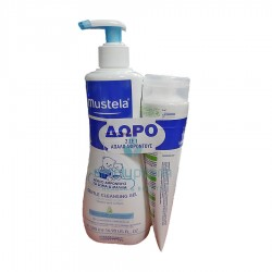 ΤΖΕΛ ΚΑΘΑΡΙΣΜΟΥ MUSTELA GENTLE CLEANSING GEL 500ml + ΔΩΡΟ MUSTELA 2IN1 CLEANSING GEL 200ml