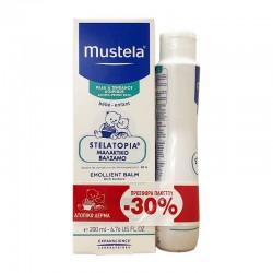 MUSTELA STELATOPIA EMOLLIENT BALM 200ml  + BATH OIL 200ml -30%