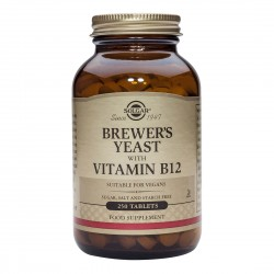 SOLGAR BREWER'S YEAST with VITAMIN B12 TABS 250s